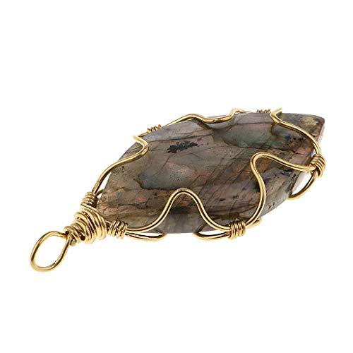 sharprepublic Natürlicher Kristalllabradorit Anhänger Halsketten Stein Für Schmucksachen DIY Anhänger