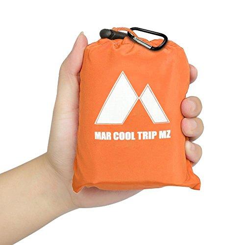 MarCoolTrip MZ wasserdichte Picknickdecke Stranddecke mit0CM Aufrollbar Campingdecke zum Rucksack Orange