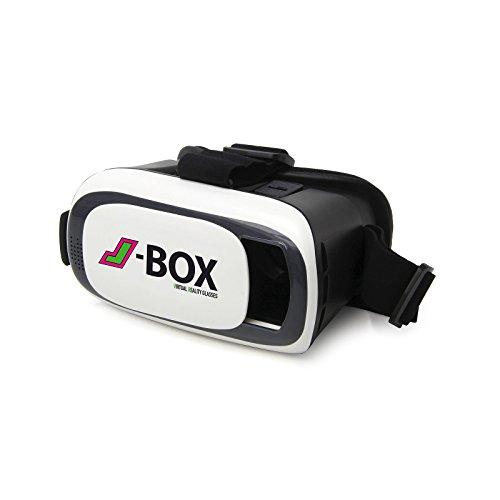 Jamara 423156 J-Box VR-Brille - einmaliges 3D-Erlebnis für Smartphones für Apps mit Splitscreen,...