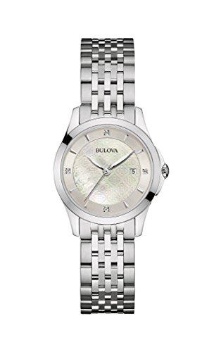 Bulova Femme 96p16014mm en Acier Inoxydable Argent Montre Bracelet