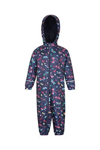 Mountain Warehouse Spright Bedruckter Regenanzug - Atmungsaktiv, Gefüttert, Wasserfest, versiegelte Nähte Anzug, Fleecefutter - Für Jungen und Mädchen, Frühling Rosa 12-18 Monate