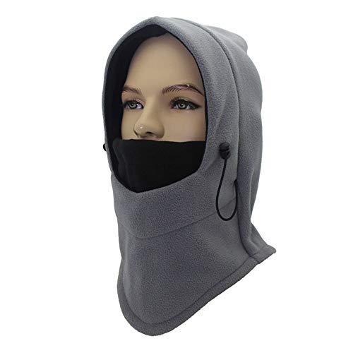 Huichao Warme Mütze, Winddichte Skimaske, Outdoor-Sportmaske,Grayblack