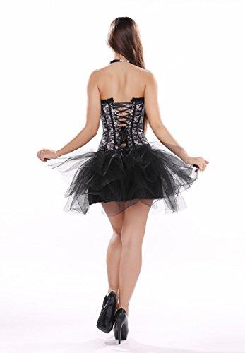 Bustino a corsetto da donna, con lacci intrecciati, sexy ed elegante, perfetto per matrimoni, circoli ricreativi, feste natalizie, celebrazioni e vacanze Light Pink