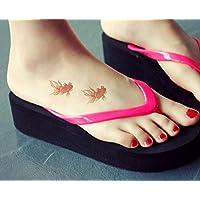 ruofengcp Fashion Temporary Tattoo Sticker Beauty Body Art Goldfish Tattoo Water Conversion Transfer Sleeve