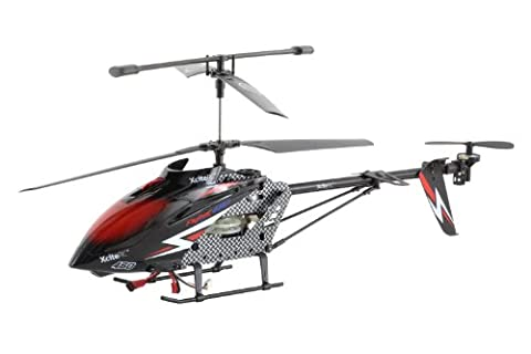 XciteRC 12030000 RC Hubschrauber Flybar 460XL Coax - 3.5 Kanal RTF mit 2.4 GHz Fernsteuerung, XL, schwarz