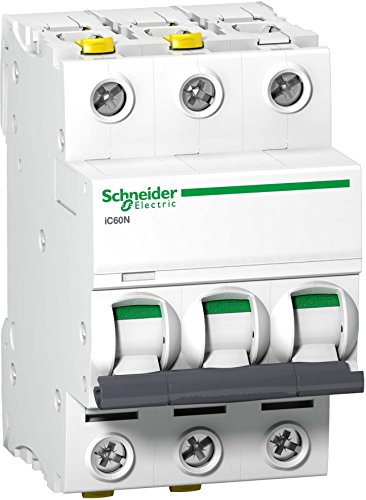 Schneider A9F05340 Leitungsschutzschalter iC60N, 3P, 40A, D Charakteristik