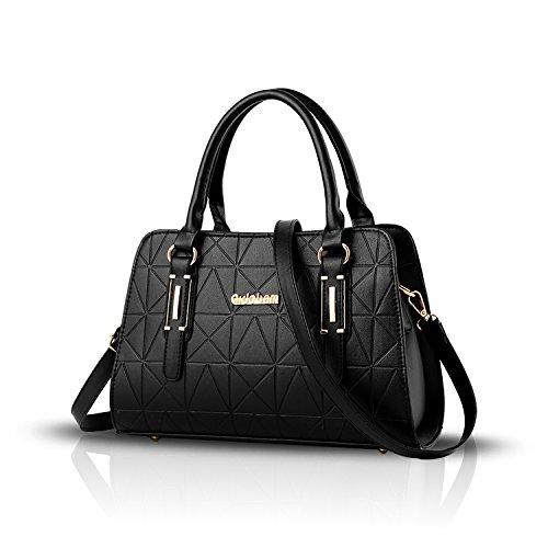 Tisdaini Frauen Handtasche geprägte Schulter Messenger Bag Damen Geldbörse Casual Pendel Tasche (Damen Casual Tasche)