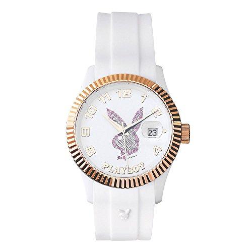 playboy-even38wp-evening-montre-mixte-quartz-analogique-cadran-blanc-bracelet-silicone-blanc