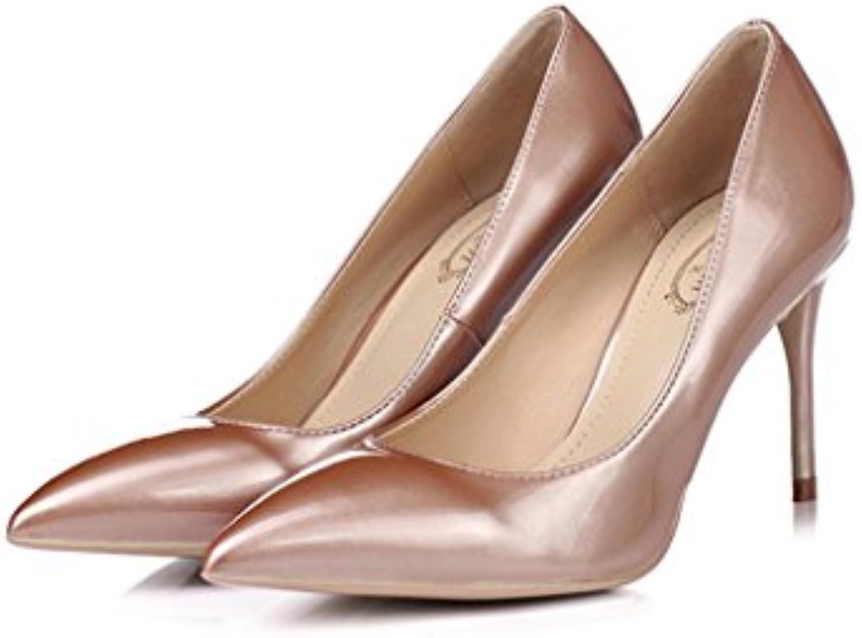 Single Chaussure s - hauts female Chaussures à talons hauts - pointe sexy chaussures de mariage 8.5cm/10cm/12cm or rose chaussures...B07D9J9YH2Parent cf4f0d