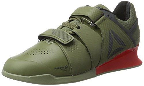 Reebok Legacylifter, Zapatillas de Gimnasia para Hombre, Verde (Hunter Green / Coal / Primal Red / Chalk), 42 EU