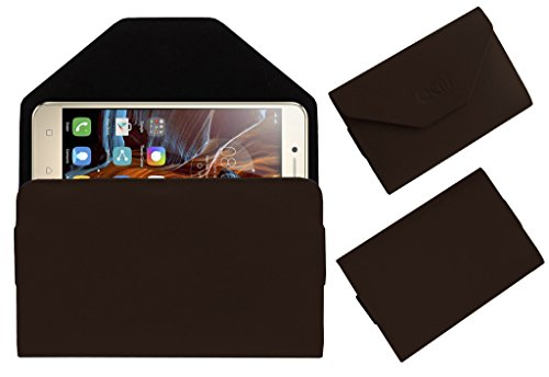Acm Premium Flip Flap Pouch Case For Lenovo Vibe K5 Plus 3gb Ram Mobile Leather Cover Magnetic Closure Brown  available at amazon for Rs.179