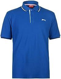 Slazenger Men's Striped Short Sleeve Polo Shirt