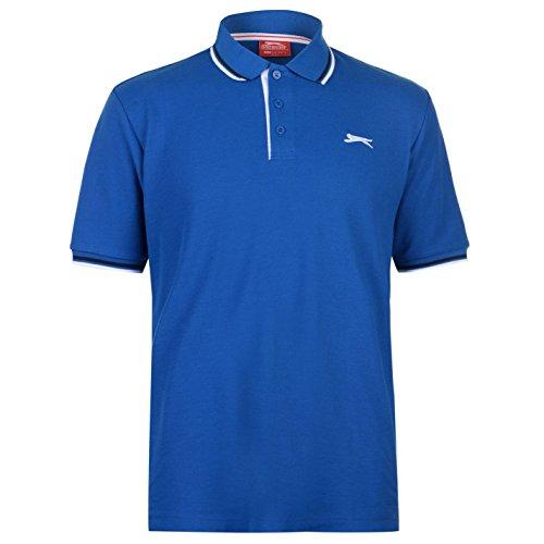 Slazenger Tipped Herren Polo Poloshirt T Shirt Kurzarm Classic Fit Tee Top XXXL