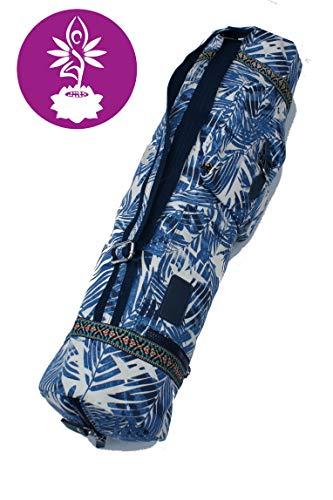 Yogatasche aus Baumwolle extra Groß für Yogamatte, Yogazubehör Gym Tasche Rucksack Tragetasche Fitness - Pilates - Yoga (Farben)