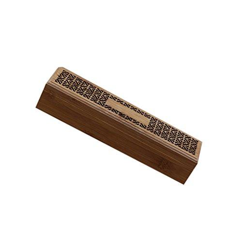 MagiDeal Räuchergefäß Räucherstäbchenhalter Turm, Chinesische Elegante Bambus Deko für Hau (Räucherstäbchen enthalten) (Bambus-turm)