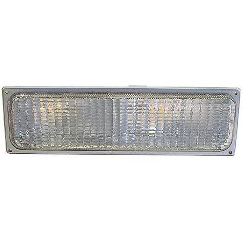 GMC Chevy/C/10 K/Truck 90-93 Suburban/Blazer/Yukon 92-93 luce Segnale parcheggio passeggero lato destro, colore: grigio, materiale composito: gruppo di Depo-Fanale anteriore - Blazer Parcheggio Luce Di Segnale