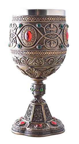 Vogler 708-7089 Der Heilige Gral Kelch mit Metalleinsatz Weinkelch Ritter Excalibur (Heilige Kelch)
