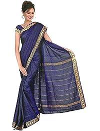 Trendofindia Bollywood Sari Kleid Regenbogen Royalblau
