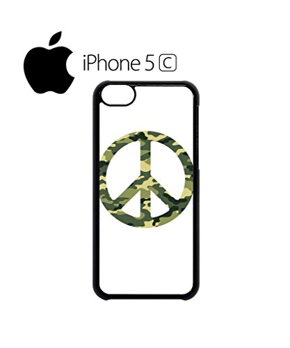 Army Pattern Paece Sign Mobile Cell Phone Case Cover iPhone 5c Black Weiß