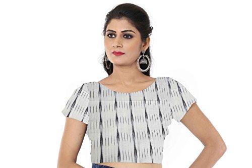 Ikat Handblock Print Blouse Material- Javuli 1mtr saree Blouse