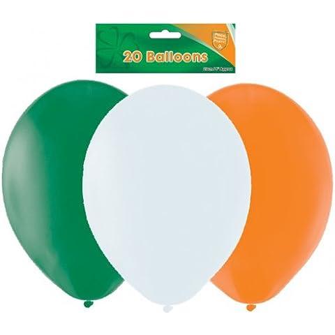 Amscan International - Set di 20 palloncini per festa irlandese a tema St. Patricks, arancione/verde/bianco - Disney Wall Hanging