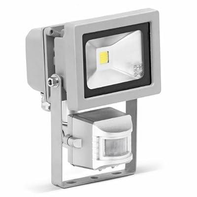 Brilliant Riad 10W LED Strahler mit Bewegungsmelder, Flutlicht / Scheinwerfer, GS-Siegel 800 Lumen, 6400K, IP44, 230V, 350mA, Aluminiumgehäuse, grau G96213/11 von Brilliant auf Lampenhans.de