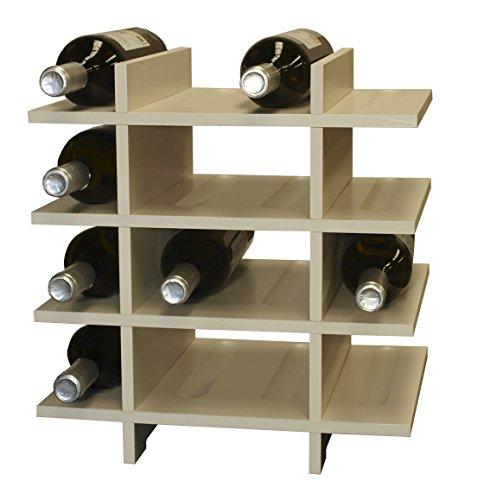 Expovinalia Weinregal 16Flaschen, Holz, Weiß, 40x 28x 40cm