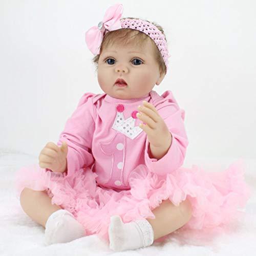 ZIYIUI 55 cm Muñeca Reborn Niño Realidad Bebé Recién Nacido Chica Hecho a Mano Vinilo de Silicona Suave Juguete Realista Reborn Baby Dolls