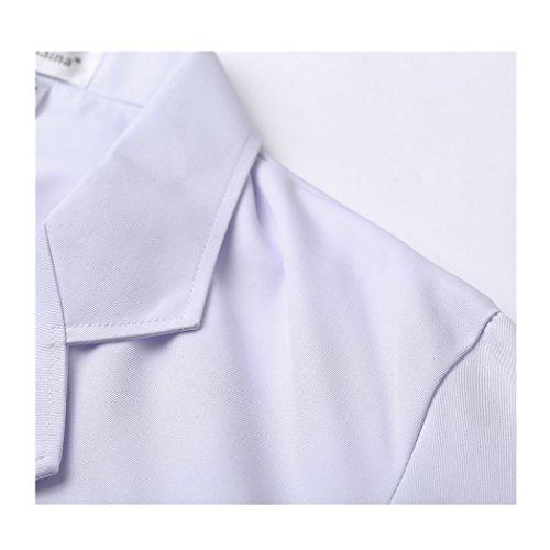 Langärmelige kurze abschnitt kittel ärzte krankenschwestern bekleidung arbeitskleidung arbeit (männer, XXXL) - 4