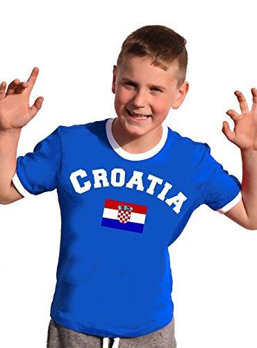 Kroatien T-Shirt Kinder Ringer sky, 152