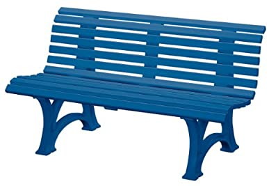 "Blome-Tillmann Gartenbank ""Neptun/Helgoland"" Kunststoffgestell blau"