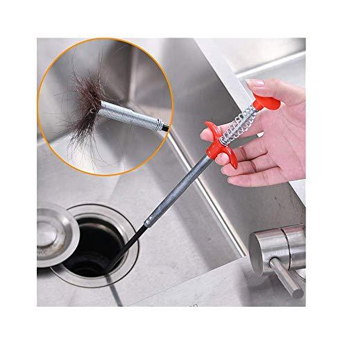 99native Abfluss Haar Reinigung Werkzeug, Pick-Up Flexibles Greifer Reinigungswerkzeug,Spülbecken Clog Reinigungshaken Drain Greifwerkzeug für Spülbecken Badewanne Küchenspüle Ausbaggern (60CM)