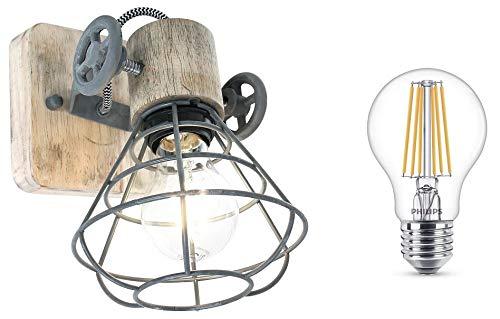 STEINHAUER 1578GR Deckenlampe Vintage Deckenleuchte Industrie Strahler Spot Lampe Edison Leuchte Retro LED ! (Edison Lampe Leuchte)