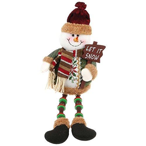 Poupée et Accessoire de Noël Bonhomme de Neige Jouet de Noël Peluches Poupée Toys Créatif Ornement Cadeau Noël/ Anniversaire