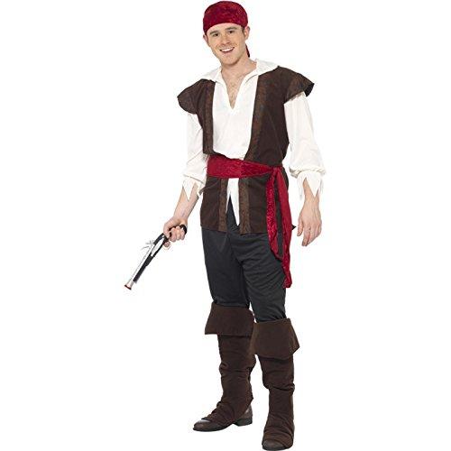 Teilig 5 Pirat Kostüm - PARTY DISCOUNT NEU Herren-Kostüm Pirat, 5-teilig, Größe XL