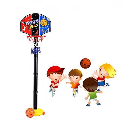 Basketballständer Spielzeug Set Höhenverstellbar Basketballset Spielset 110cm Outdoor Indoor Sportgeräte für Kinder
