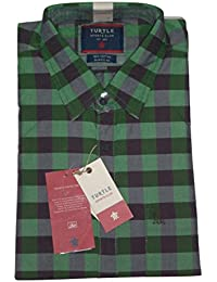 Turtle Men's Full Sleeves Casual Checked Shirt