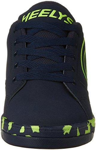 Heelys Propel 2.0, Chaussures de Tennis Garçon Bleu (Navy / Lime / Confetti)