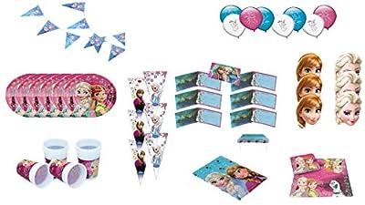 ALMACENESADAN 1054, complemento Fiesta y cumpleaños Disney Frozen, 6 Invitados (56 Piezas) de ALMACENESADAN