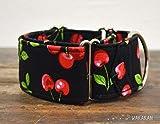 Martingal Hundehalsband: Pin Up, von Hand gefertigt in Spanien von Wakakán