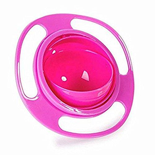 Grad Teller (Universal Gyro Bowl Anti Spill Schüssel Glatte 360 Grad Rotation Gyroskopische Schale Für Baby Kids Bobury (rot))