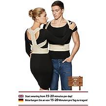 ®BeFit24 Corrector De Postura - Solución Instantánea Para La Postura Encorvada Frente Al Ordenador - Cinturón Para El Alivio Del Dolor De Espalda - El Mejor Soporte Para El Hombro