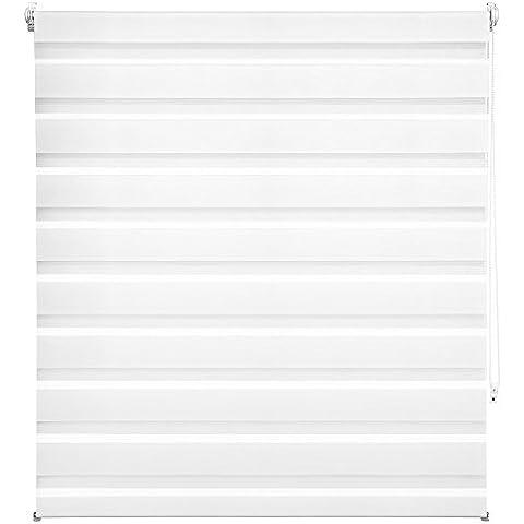 TecTake® Estor enrollable translúcido - blanco - 120 x 175 cm