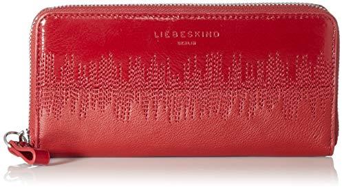 Liebeskind Berlin Damen Wave Slg - Gigi Wallet Large Geldbörse, Rot (Dahlia Red), 2x10x19 cm