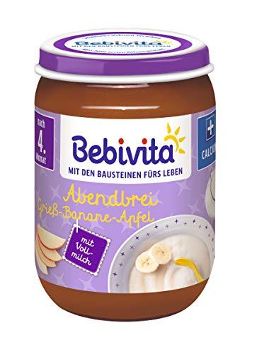Bebivita Grieß-Banane-Apfel, 6er Pack (6 x 190 g)