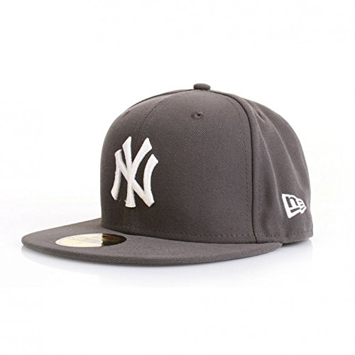 New Era 59Fiftys Cap - NY YANKEES - Graphite-White, Size:7 1/4