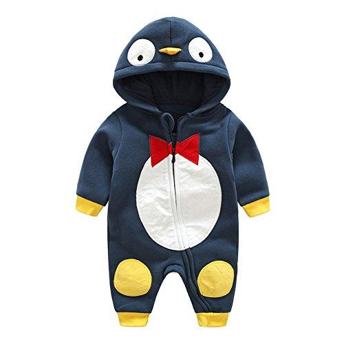 Baby Strampler Baumwoll Overall Mädchen Jungen Schlafanzug Pyjamas Unisex Kleinkind Outfits Kleidung Set Tiger/Ente / Pinguin 0-12 Monate