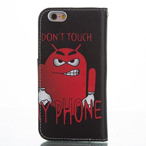 """Trumpshop Smartphone Case Coque Housse Etui de Protection pour Apple iPhone 6/6s Plus 5.5"""" + Arbre Coloré + Ultra Mince Smartcoque Portefeuille PU Cuir Fonction Support Anti-Choc Don't Touch My Phone"""