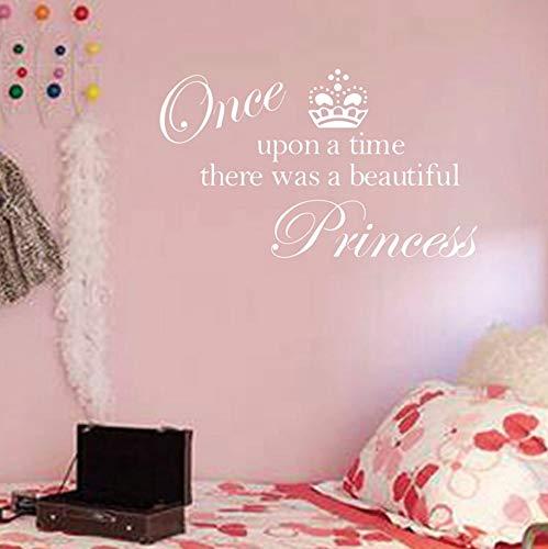 Pbldb 59X27CmVerkauf Krone Prinzessin Cute Vinyl Wand Zitat Aufkleber, Prinzessin Aufkleber Aufkleber Dekoration Für Mädchen Zimmer 01 (Verkauf Für Prinzessin Krone)