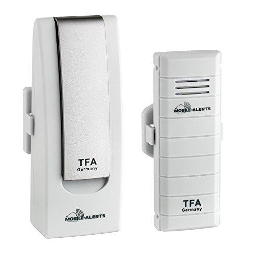 TFA Dostmann Commande pour température Moniteur pour Smartphones Weather Hub 31.4001.02, blanc avec batteries